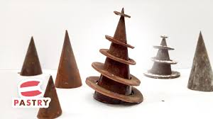 christmas dessert decoration chocolate rings christmas tree