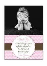 photo baptism thank you card photo christening 5x7 flat card
