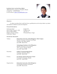 best ideas of sample resume for ojt computer science students in