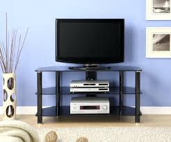 Corner Tv Cabinet For Flat Screens Black Glass Raw Corner Tv Cabinets Riser Shelf Hartleys Monitor