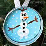 fingerprint snowman salt dough ornament crafty morning