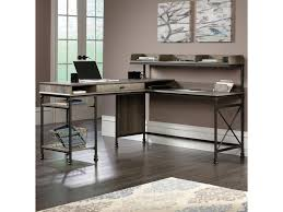 V Shaped Desk Sauder Canal 420509 L Shaped Desk With Usb Ports And Raised
