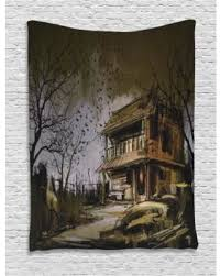 Rustic Home Decor For Sale Fall Savings On Rustic Home Decor Tapestry Old Haunted Abandoned