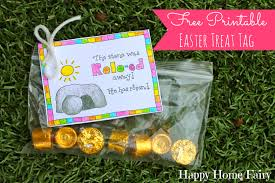 Christian Decorations For Easter by Free Printable Easter Treat Tag Happy Home Fairy