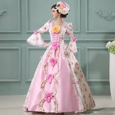 Marie Antoinette Halloween Costumes Sell Pink Baroque Rococo 17th 18th Century Marie Antoinette