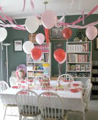 simple birthday decoration ideas at home interior classic look of shabby chic tablecloths brings lovely