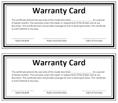 warranty certificate template microsoft word templates