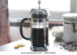 Coffee Maker Table Press Coffee Maker On Table Stock Photo 625333031