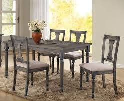 acme wallace dining table weathered blue washed acme 71435 wallace 5pcs weathered blue washed wood dining table set