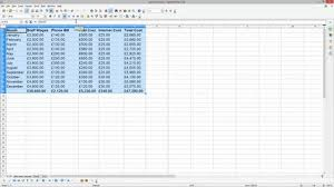 Spreadsheet Tutorial Bookkeeping For Small Business Tutorial Open Office Calc