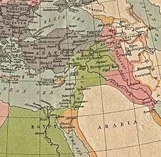 Mideast Map Palestine And Israel
