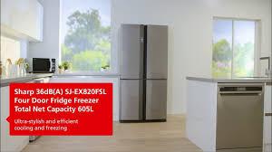 Sj Home Interiors Sharp Sj Ex820fsl Four Door Fridge Freezer 2017 Youtube