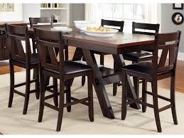 counter height gathering table liberty furniture lawson 7 piece trestle gathering table with