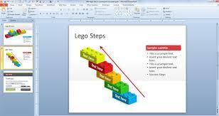 free building blocks powerpoint template animated blocks