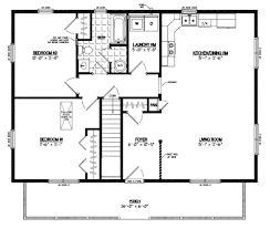 Ranch Home Plans With Basements Floor Plan For A 28 X 36 Cape Cod House House Plans