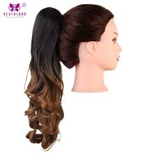 clip on ponytail aimei 20 claw clip on ponytail synthetic wavy hair black brown
