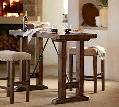 bar height office table benchwright bar height table pottery barn with regard to pub ideas 7