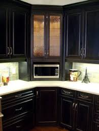 kitchen corner cabinet ideas kraftmaid cabinets glass doors 200