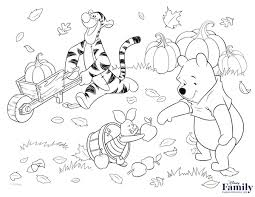 winnie the pooh thanksgiving coloring pages bourseauxkamas