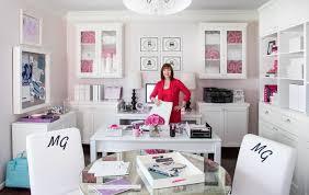 Pink Office Furniture by Karen Davis U0027 Playful U0026 Pink Office Office Tour Sayeh Pezeshki