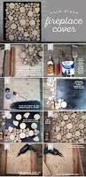 diy birch wood fireplace cover lia griffith