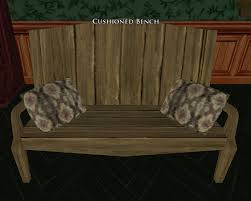 item cushioned bench lotro wiki com