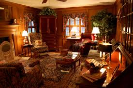 Cottage Style Living Rooms by Country Cottage Style Wallpaper Log Cabin Living Room Lodge Style