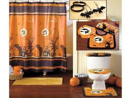 fresh orange halloween bathroom decor sets