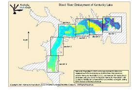 map kentucky lakes rivers blood river embayment of kentucky lake