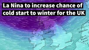 la to increase chance of cold start to winter for the uk
