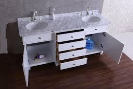 stufurhome cadence white 60 inch double sink bathroom vanity with
