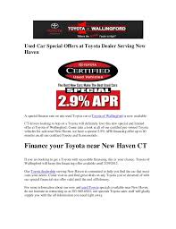 toyota car financing rates used car special offers at toyota dealer serving