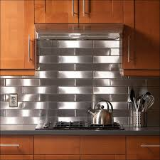 Kitchen  Stainless Steel Peel And Stick Tiles Kitchen Sink With - Stainless tile backsplash