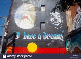Indigenous Flags Of Australia I Have A Dream U0027 Martin Luther King Mural With Aboriginal