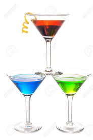 martini gin colorful martini cocktails drink blue green and red on top