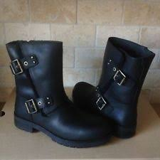 womens motorcycle boots size 11 ugg 1016163 tisdale moto boots water resistant black leather