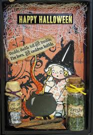 halloween photo book papercrafting inspiration mixed media halloween project