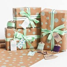 mint wrapping paper recycled mint dotty gift wrap set by