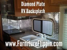 updating an rv kitchen backsplash using fasade industrial 4 u0027 x 8