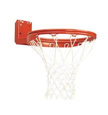 rear mount double rim basketball goal with no tie netlocks bison