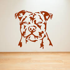 aliexpress com buy staffordshire bull terrier dog vinyl wall art aliexpress com buy staffordshire bull terrier dog vinyl wall art sticker decal staffy boy kids bedroom living room home decor wallpaper mural d387 from