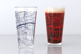 Dayton Map Dayton Oh University Of Dayton College Town Map Pint Glass