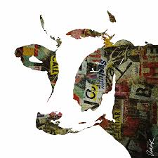 Erod Curtain Graffiti Cow Abstract Modern Painting Pop Art Prints Poster Robert