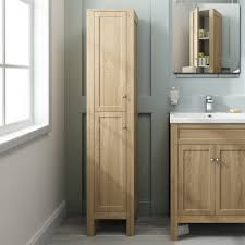Bathroom Furniture Melbourne 1600mm Melbourne Oak Effect Storage Unit Floor Standing Pt