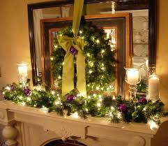 Tall Christmas Mantel Decorations by Festive Christmas Mantel Decorating Idea In My Own Style
