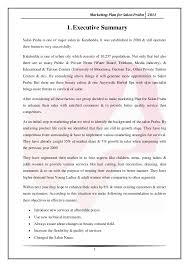 marketing plan for salon praba
