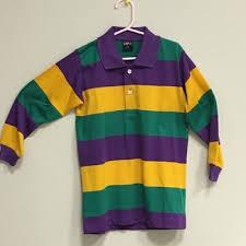 mardi gras factory stock stock stock mardi gras stripe sleeve polo shirts