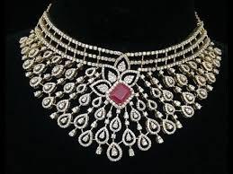 diamond jewelry necklace images Wedding diamond jewellery collections latest indian diamond jpg
