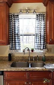 Kitchen Window Curtains by Nifty Kitchen Window Treatment Idea Also Love The Double Window