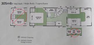 coachmen travel trailer floor plans 305mb coachmen leprechaun floor plan huge closet rv